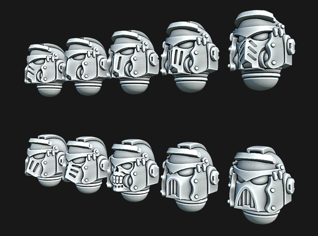 Space Legionaire Helmets in Smooth Fine Detail Plastic: Extra Small