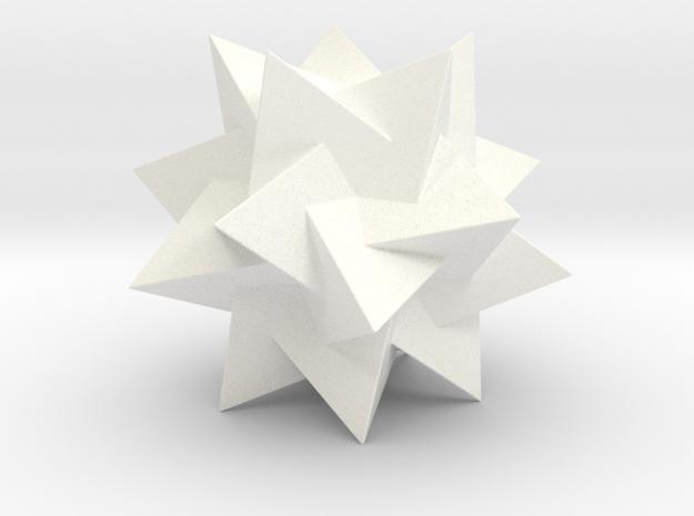 FIVE TETRAHEDRA COMP. H50 mm in White Processed Versatile Plastic