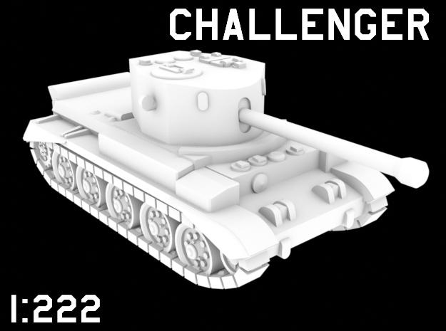 1:222 Scale Challenger in White Natural Versatile Plastic