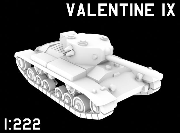 1:222 Scale Valentine IX in White Natural Versatile Plastic