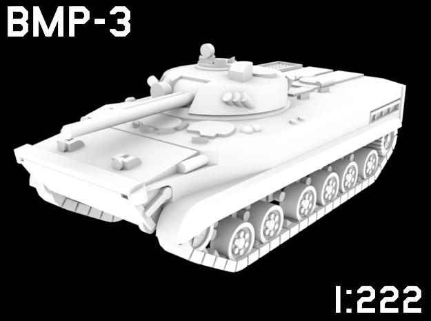 1:222 Scale BMP-3 in White Natural Versatile Plastic