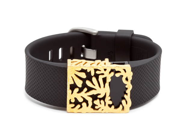 Steel Matisse slide for Fitbit Charge & HR in Polished Gold Steel