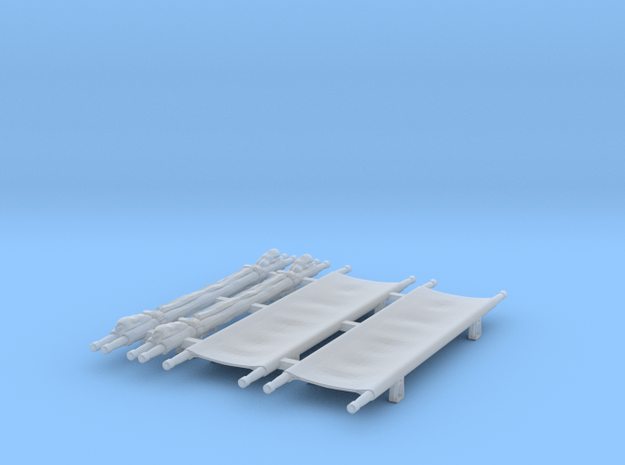 US WW2 stretchers 1/35 scale in Smooth Fine Detail Plastic