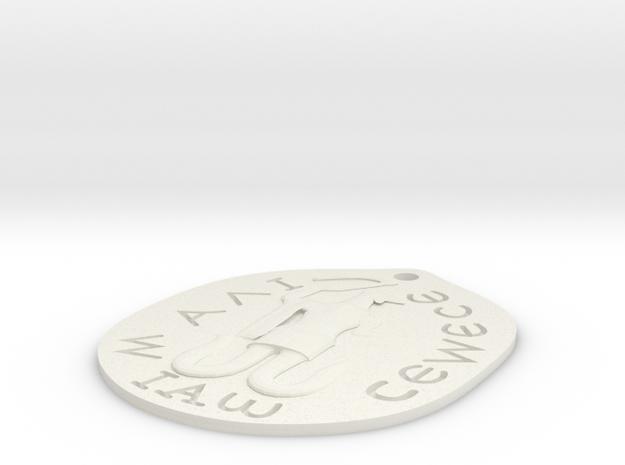 Abraxas Talisman Thin. in White Natural Versatile Plastic