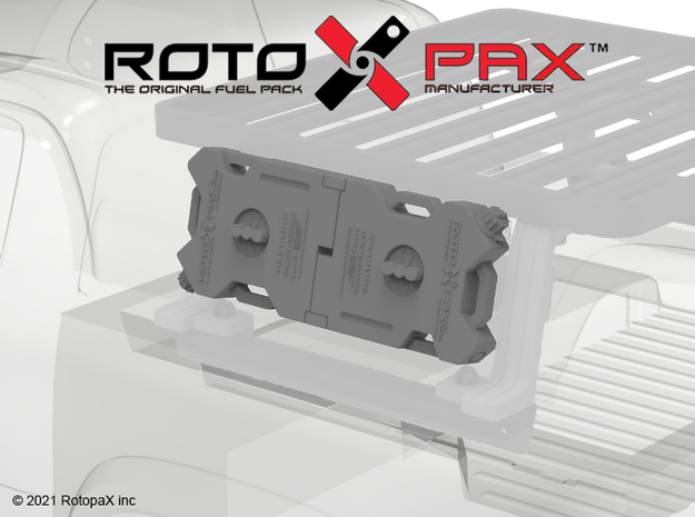 KCKR1030 Knightrunner RotopaX for Bed Rack in Black PA12