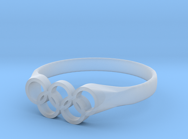 Tom Daley's Ring - Plastics & Plated in Smoothest Fine Detail Plastic: 3 / 44
