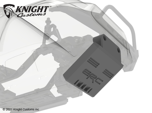 KCKR1003 Knightrunner ERC Skid plate in Gray PA12