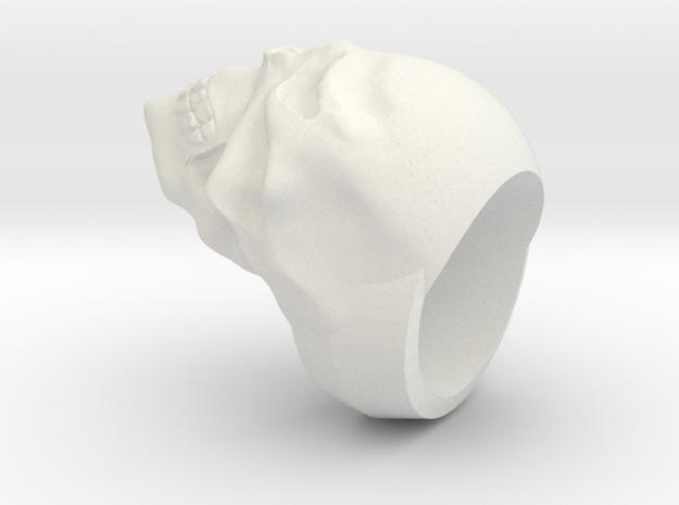 REVAMPED SKULL RING in White Natural Versatile Plastic