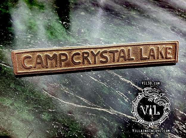 CCL PT2 SIGN Pendant ⛧ VIL ⛧ in Polished Bronzed-Silver Steel: Small