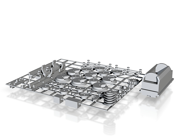 4-6-2 + tender chassis(T-Gauge) 3d printed