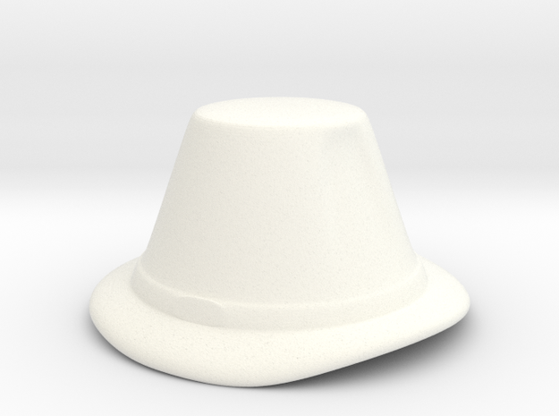 Merchant Hat (tall) in White Strong & Flexible Polished