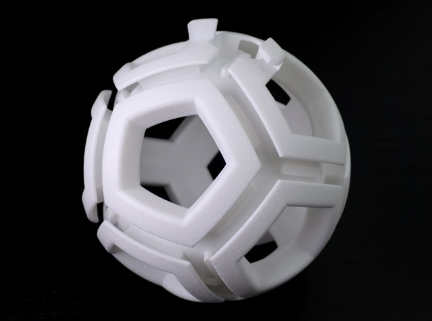 Holonomy dodecahedron in White Processed Versatile Plastic
