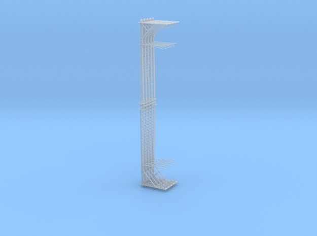 VR Stanchion 42mm 10 Pack 1:160 Scale in Smooth Fine Detail Plastic