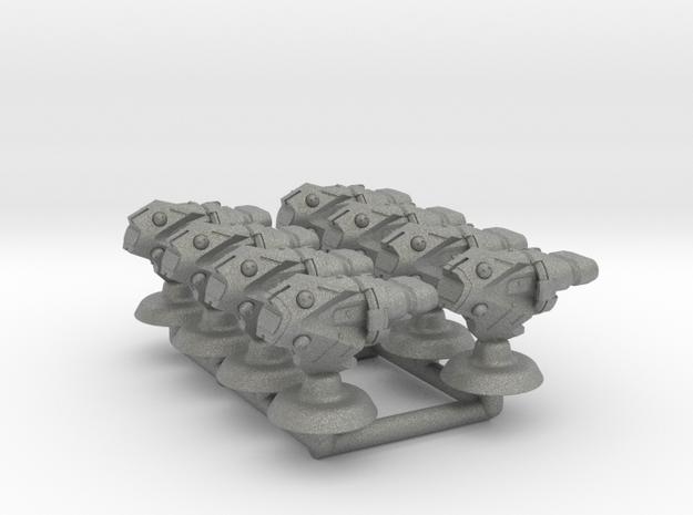 Zeta Fleet Frigates - 1:20000 in Gray PA12