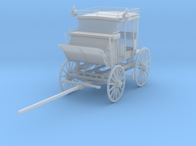 Cobb & Co Coach 1:24 scale in Smooth Fine Detail Plastic
