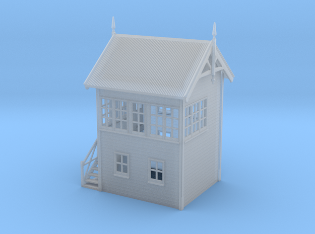 VR Signal Box #1 [Left Stairs] 1:160 Scale in Smooth Fine Detail Plastic