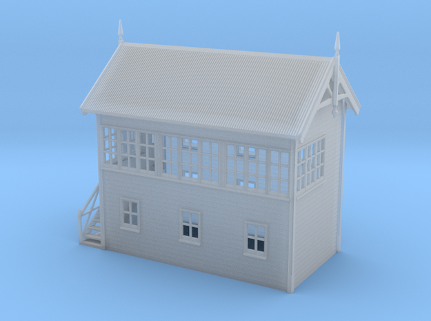 VR Signal Box #3 [Left Stairs] 1:160 Scale in Smooth Fine Detail Plastic