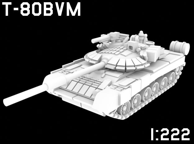 1:222 Scale T-80BVM in White Natural Versatile Plastic
