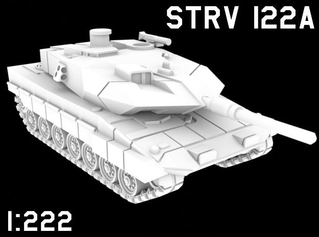 1:222 Scale Strv 122A in White Natural Versatile Plastic