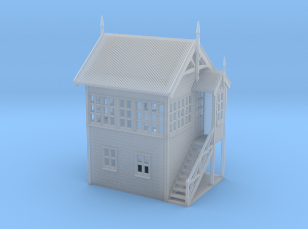 VR Signal Box #1 [Right Stairs] 1:160 Scale in Smoothest Fine Detail Plastic