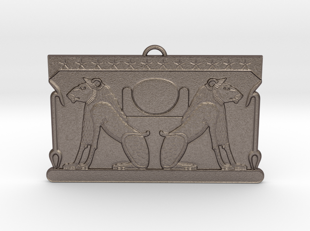 Akeru/Ruti Votive in Polished Bronzed-Silver Steel