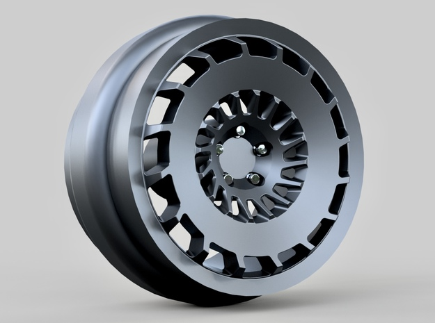 1/64 scale Rotiform CCV wheels 9mm - 4 sets in Smoothest Fine Detail Plastic