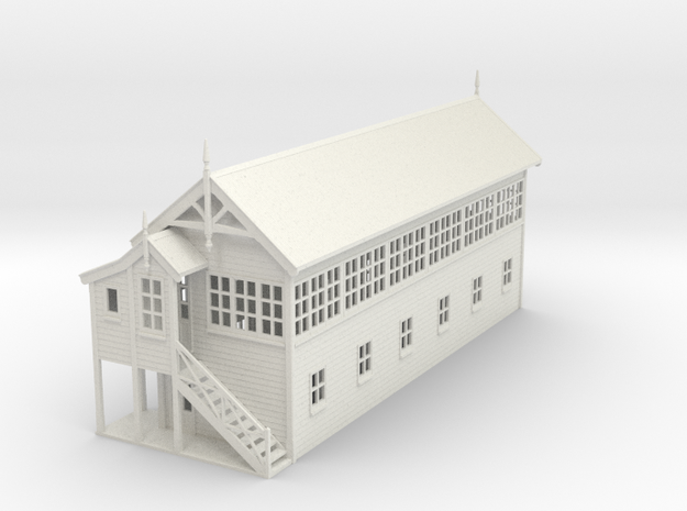 VR Signal Box #4 [Left Stairs &Toilet] 1:87 Scale in White Natural Versatile Plastic