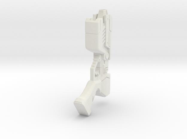 Paralyzer Pistol Gun Replica - Metroid Inspired in White Natural Versatile Plastic