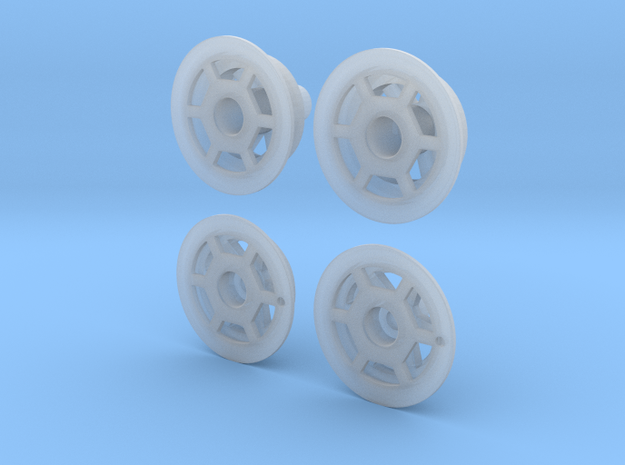 1/25 wheel covers for Indy cars, type 1 in Smooth Fine Detail Plastic