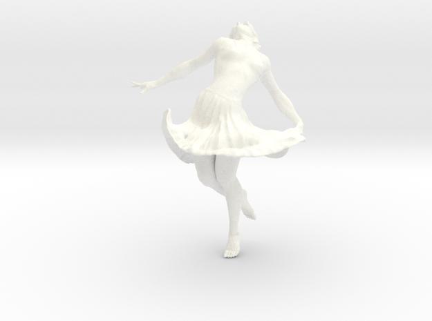 Dancing Girl 10.0 cm in White Processed Versatile Plastic