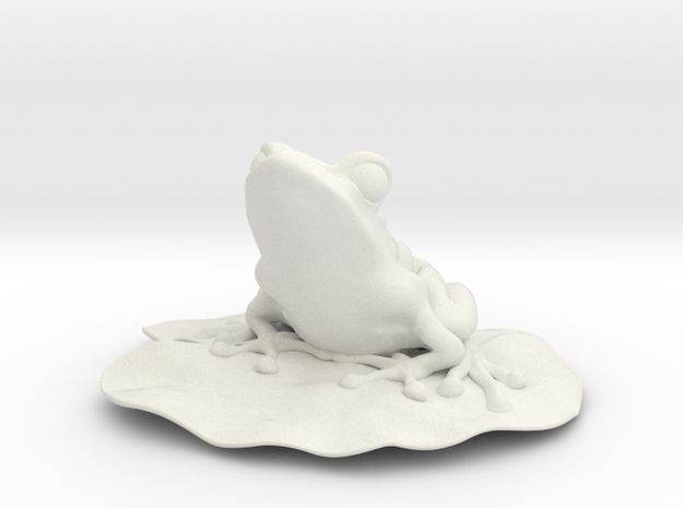 6.9 cm Frog on Lillypad 3d printed