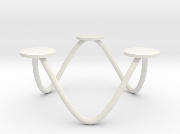 Votive Candle Holder - 6 Point Wave Circle Small 3d printed