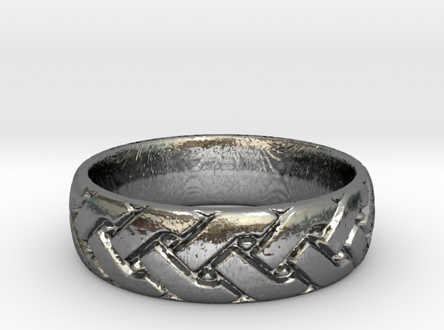 Celtic knot seamless Ring 2 in Polished Silver