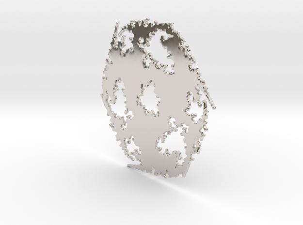 Julia Sharp Web 1 in Rhodium Plated Brass