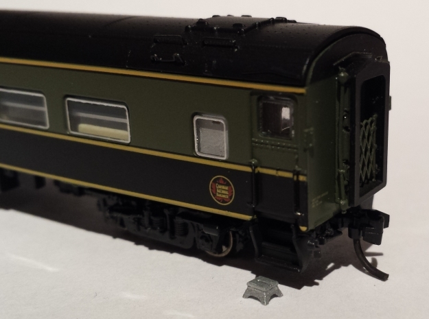 Passenger Stepping Boxes N scale X 10 in Smoothest Fine Detail Plastic
