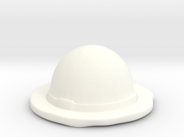 Straw Hat  in White Strong & Flexible Polished