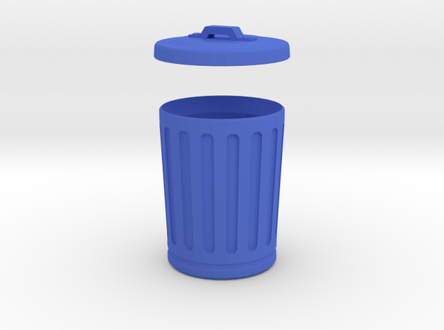 thrash can, us style 3d printed