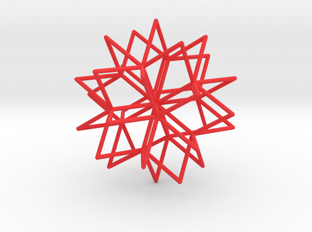 Thirty-pointed star 3d printed