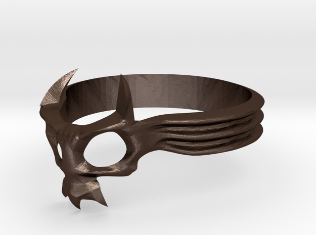 Skull Mask Ring -v2 3d printed