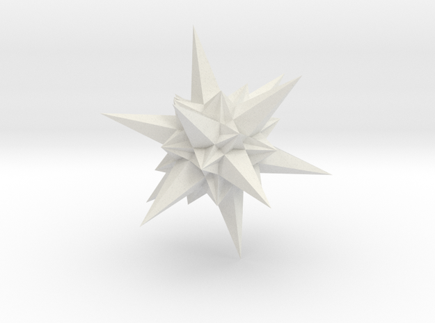 A stellation of icosahedron in White Strong & Flexible