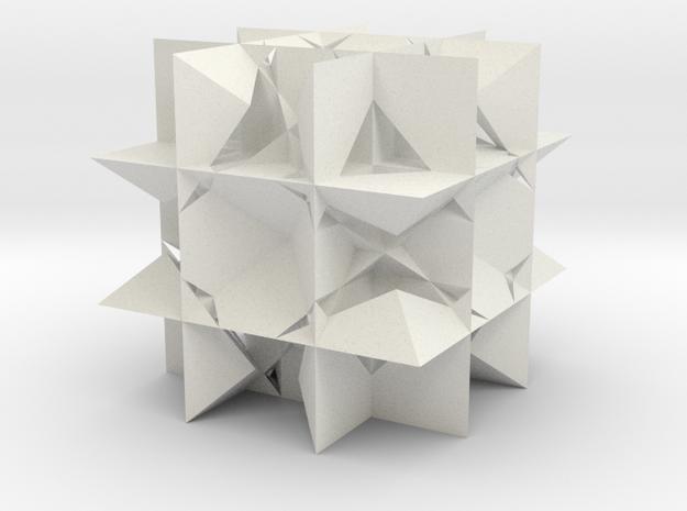 Great Rhombicuboctahedron in White Natural Versatile Plastic
