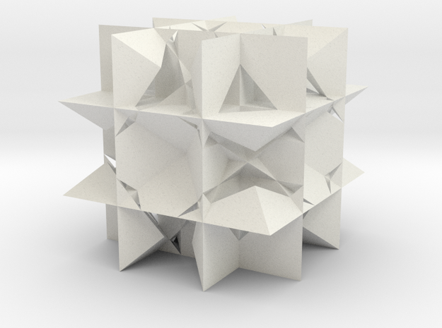 Uniform Gt, Rhombicuboctahedron in White Natural Versatile Plastic