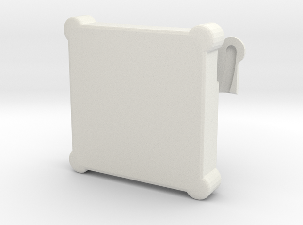 Memory card case in White Natural Versatile Plastic