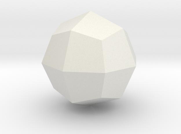 Great deltoid icositetrahedron in White Natural Versatile Plastic