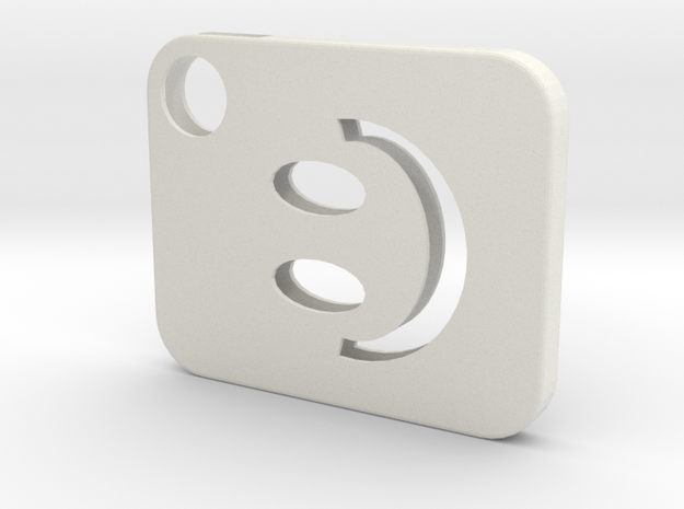 Flash Cover Smiley in White Natural Versatile Plastic