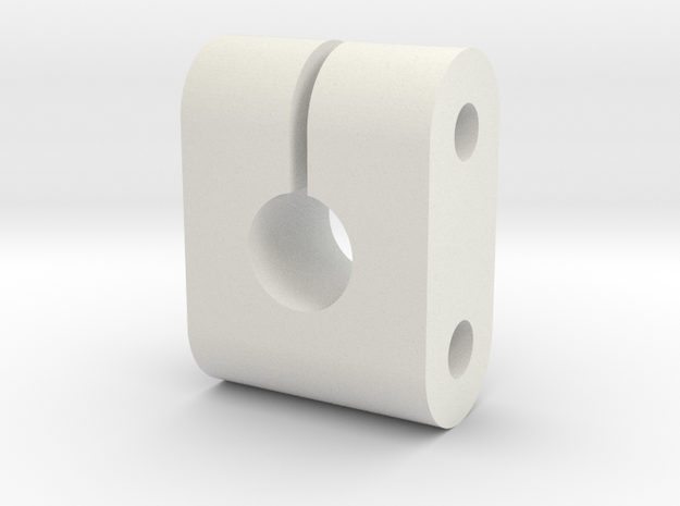 JDH-ar_clamp.stl in White Natural Versatile Plastic