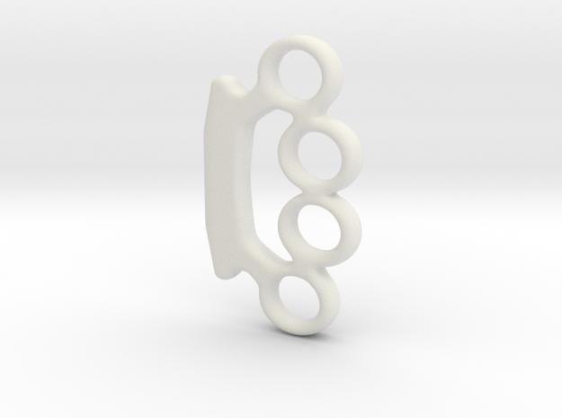 Mini_brassknuckles_smooth_ver1.dae in White Natural Versatile Plastic