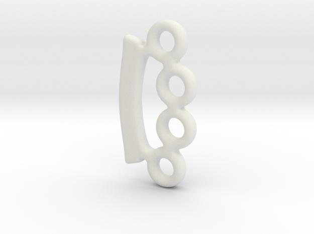 miniKnuckles__SMOOTH_001.dae in White Natural Versatile Plastic