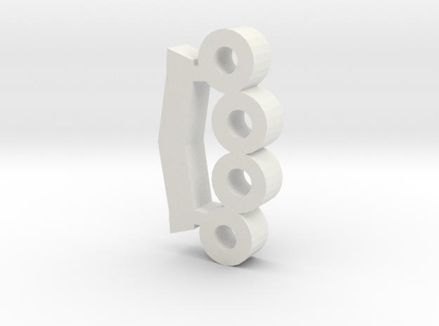 miniKnuckles_001.dae in White Natural Versatile Plastic