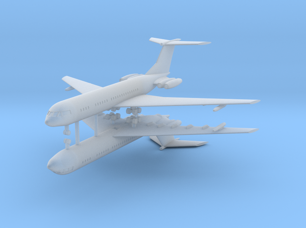1/700 Vickers VC-10 C1 (x2) in Smooth Fine Detail Plastic